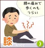 膝、膝の痛みで歩くのもつらい